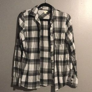Plaid button-down